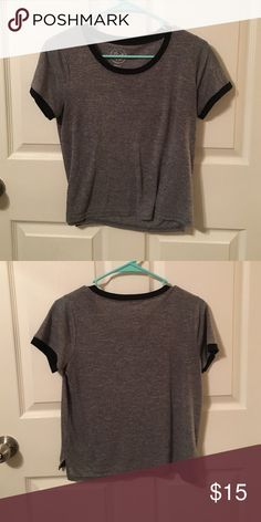 Gray tee w/ black edging Grey comfortable tee w/ black edging Tops Tees - Short Sleeve