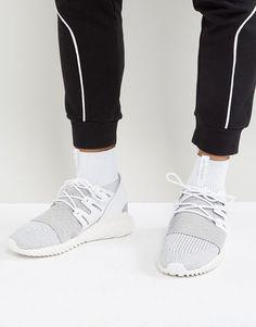 best service ded40 5f88d adidas Originals Tubular Doom Primeknit Sneakers In Gray