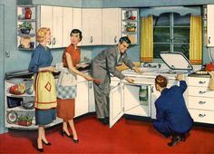 Post War Vintage | From the 40s, 50s, 60s & 70s (Kitchen's of the 50s)