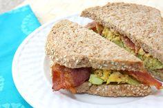 bacon egg avocado sandwich