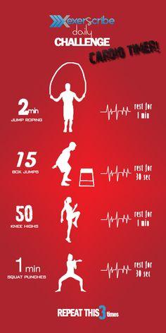 Exerscribe Daily Challenge - Cardio Timer  --> http://exerscribe.com/blog/?p=1465