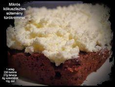 Mikrós kókuszlisztes sütemény túrókrémmel