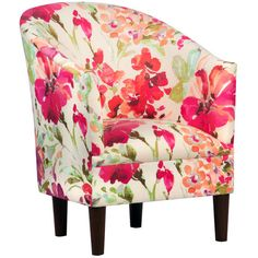 Tamira Arm Chair ❤ liked on Polyvore featuring home, furniture, chairs, accent chairs, fabric chairs, patterned accent chairs, patterned chairs, fabric arm chair and upholstery chairs