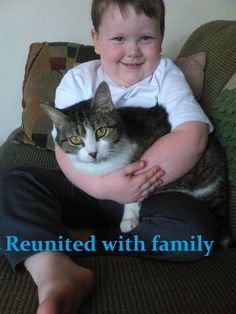Reunited cat with his Human in Triangle Va.