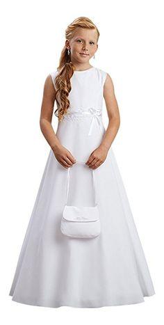 Lena #Kommunionkleid Kleid Kommunion Kommunionskleid, weiß, 134 Everything's Rosie, First Communion Dresses, Wedding Flower Girl Dresses, Sewing Patterns, White Dress, Bridal, Outfits, Handmade, Fashion