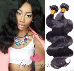 新品上市2只巴西处女的头发体波发帘扩展