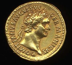 Gold Coin Domitian. Imperator Caesar Domitianus Germanicus Augustus Domitian was the last of the Flavian emperors, ruled from October 14, 81- September 8, 96.