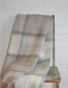 Mohair Mill Shop | Mohair Blankets | Earth Plaid Mohair Throw