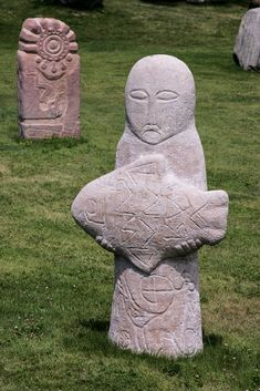 Statue at the open air museum in Cholpon Ata, Issyk Kul, Kyrgyzstan, Central Asia travel Objets Antiques, Ancient Mysteries, Mystique, Stone Sculpture, Central Asia, Ancient Civilizations, Culture Travel, Ancient Art, Prehistoric