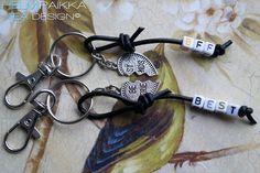 Best friends avaimenperät Bff, Friends, Bracelets, Leather, Jewelry, Amigos, Jewlery, Jewerly, Schmuck
