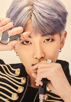 army, you guys must be always remember BTS's RM or Bangtan sonyeondan's Kim Namjoon Purple gray hair Foto Bts, Bts Photo, Bts Boys, Bts Bangtan Boy, Bts Jimin, Seokjin, Kim Namjoon, Mixtape, K Pop
