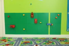 Decorate with Legos! This sensory wall is a great way to accent your child's room and give them a fun place to play with their Legos...click the photo to check out my blog post!