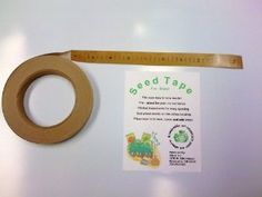 "Seed Tape Roll by Seed Tape Roll. $5.95. Pre-glued for Your Convenience. Mix and Match Seeds, Make Designs, The Easy Way to Sow Seeds. Just Place Seeds on the Adhesive, Place Tape in Furrow, Cover with Dirt and Add Water. Printed Increments for Easy Spacing of Seeds. Biodegradable Paper and Compostable Adhesive. Seed Tape Roll, 3/4"" x 100 Feet with Adhesvie Already on Tape"