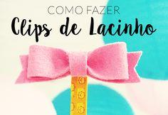 Clips de Lacinho - Como fazer marcador com clips  http://www.garotacriatividade.com/clips-de-lacinho/  #DIY #clips #lacinho