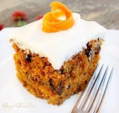 The Best Carrot Cake Ever with Cream Cheese Frosting. This is another old recipe I've been baking for years. It's so very moist, it has 4 cups of grated carrots in it. It's absolutely delicious!