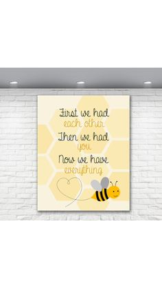 Bumble Bee Yellow Baby Nursery Print available at www.mycheekybaby.etsy.com