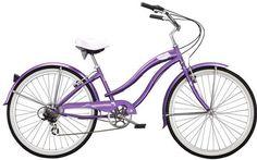 "Micargi Rover 7 Speed, Purple - Women's 26"" Beach Cruiser Bike"