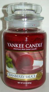Yankee Candle Cranberry Sauce Candle