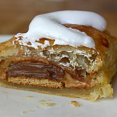 Peanut Butter S'Mores Turnovers:  A camping treat you can enjoy in the comfort of your own home.