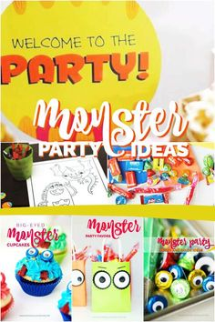 Cute Monster Party Ideas #letsbirthday #ad