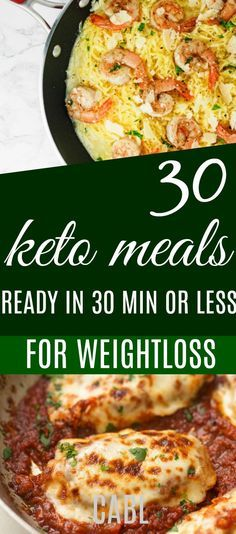 30 Keto Dinners You Can Make in 30 Minutes or Less#keto #ketogenic #lowcarb #chasingabetterlife