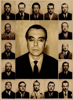 Andre Breton: Paris Surrealists:(from top)Maxime Alexandre, Louis Aragon, André Breton, Luis Bunuel, Jean Caupenne; (second row) Salvador Dalì and Paul Éluard; (third row) Max Ernst and Marcel Fourrier; (forth row) Camille Goemans and René Magritte; (bottom row) Paul Nougé, Georges Sadoul, Yves Tanguy, André Thirion, Albert Valentin.