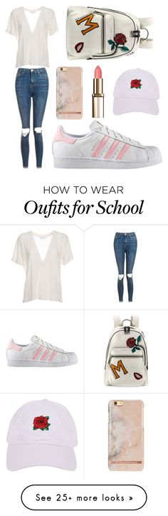 """""""#school"""" by hannahgarabito on Polyvore featuring Marc Jacobs, adidas, Topshop, IRO and Armitage Avenue"""