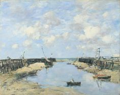 The Entrance to Trouville Harbour  1888, Eugène Boudin. This one looks almost exactly like the one my grandparents owned; although, there are some minor differences as expected.