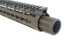 The Blast Can Muzzle Device is a direct thread on muzzle device made of 6061 black anodized aluminum. Our Blast Can directs muzzle blast/flash forward rather than to the side like a muzzle brake or flash hider. Perfect for close quarter sit Custom Ar, Ar Build, Ar Pistol, Assault Rifle, Rifles, Tactical Gear, Firearms, Weapons, Guns