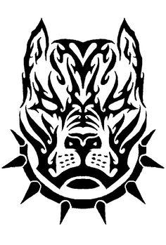 Chido Tattoo Stencils, Stencil Art, Wolf Tattoos, Animal Tattoos, Tatouage Pit Bull, Tattoo Drawings, Cool Drawings, Pitbull Drawing, Tribal Shoulder Tattoos