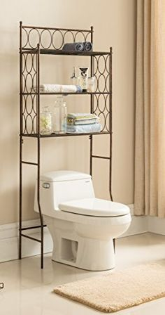 Featuring Two Shelves And A Simple Design This Spacesaver Works - Toilet organizer for small bathroom ideas