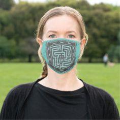 Cloth Face Mask MAZE OF HORSES black on hazy blue Shape Of You, Health And Safety, Maze, Sensitive Skin, Horses, Horse Corral, Blue Horse, Clothes, Beauty