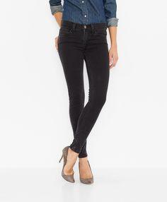 Jeans Levi's super skinny - Onyx black - Leggings