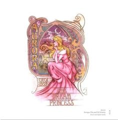 A version of Art Nouveau interpretation of the early twentieth century Disney princesses, Enrique Pita and Ed Irizarry.