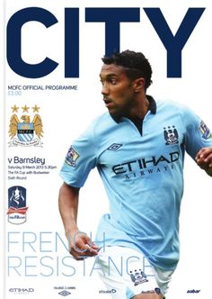 MCFC matchday programme cover