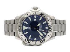 OMEGA, Seamaster Professional (300m/1000ft), men´s wristwatch, 41,5 mm, steel, quartz, sapphire crystal, date, helium valvue, original bracelet, folding clasp. #omega #watches