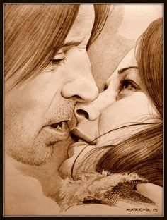 Rumple and Belle by KatBjorky on deviantART ~ Once Upon a Time tv series ~ Robert Carlyle & Emilie de Ravin