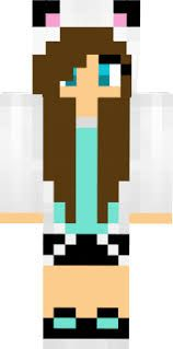 aqua wolf girl skin minecraft - Google Search