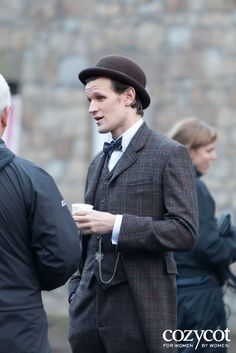 Matt Smith on the set of the BBC's Doctor Who TV series - Wales.