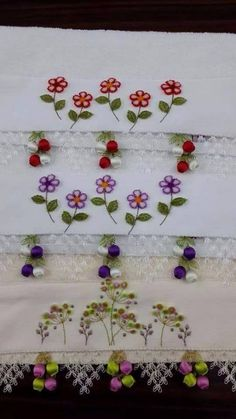 This Pin was discovered by Dil Linen Towels, Needle Lace, Bargello, Crochet, Needlework, Diy And Crafts, Embroidery, Projects, Point Lace