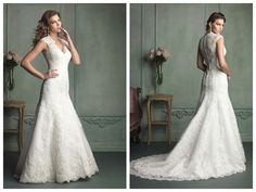 Cap Sleeve Plunging Neckline Mermaid Wedding Dress with Paneled Back http://www.ckdress.com/cap-sleeve-plunging-neckline-mermaid-wedding-dress-with-paneled-back-p-1140.html #wedding #dresses #party #Luckyweddinggown #Luckywedding #design #style #weddingdresses #bridaldresses #love #me #cute #beautiful #girl #shopping #lovely #clothes #instagood #follow #fashion