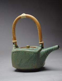 Clay Teapot Stoneware Copper Green by JohnMcCoyPottery on Etsy, $110.00