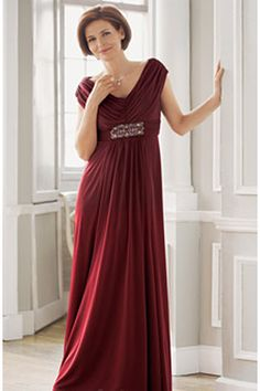 beautiful color, shoulders and the flattering front of dress.