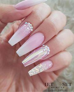Cute Spring Nails, Cute Summer Nail Designs, Cute Acrylic Nail Designs, Nail Designs Spring, Best Acrylic Nails, Nail Art Designs, Butterfly Nail Designs, Nails Now, Gel Nails