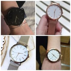 Insnic rose gold simple wrist watch.