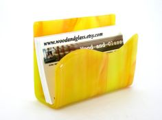 Hey, I found this really awesome Etsy listing at http://www.etsy.com/listing/97150326/business-card-holder-fused-glass-art