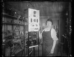 [Woman with scientific instrument]