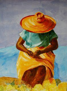 Marchande d'orange en Martinique