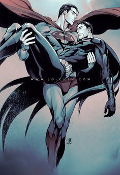 Superman and Batman by Jo Chen