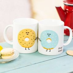 """Mr Wonderful Mugs donut """"A good day starts with you"""""""